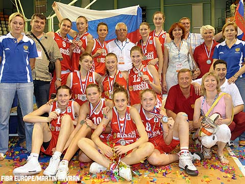 Russia with their silver medals.
